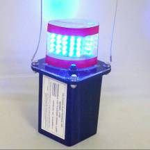 J100-06 Blue Mining Light w/Clear Lens