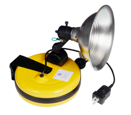 """Magnetic 9"""" Spot Light with 50' Retractable Cord Reel"""