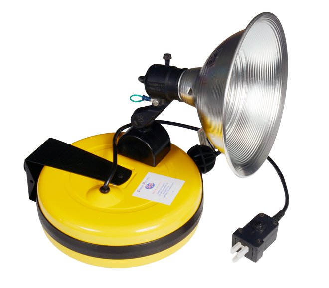 "Magnetic 9"" Spot Light with 50' Retractable Cord Reel"
