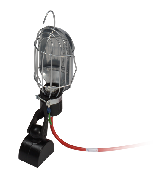 Magnetic Trouble Light with Metal Guard and 50' Cord