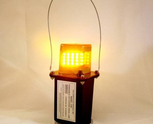 J100-03M Magnetic Amber LED Mining Light