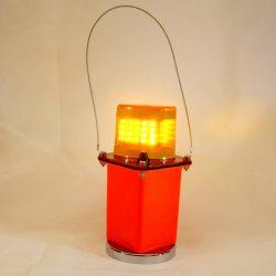 Amber LED Flashing Light w/Magnet