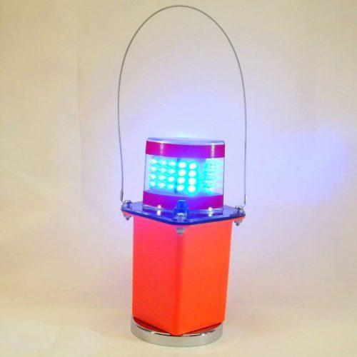 Blue LED Flashing Light w/Clear Lens & Magnet