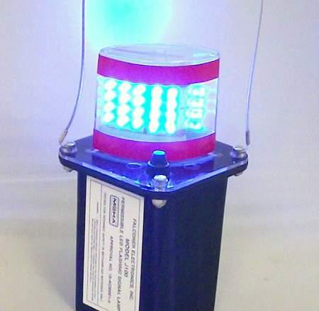 J100-06M Magnetic Blue LED Mining Light