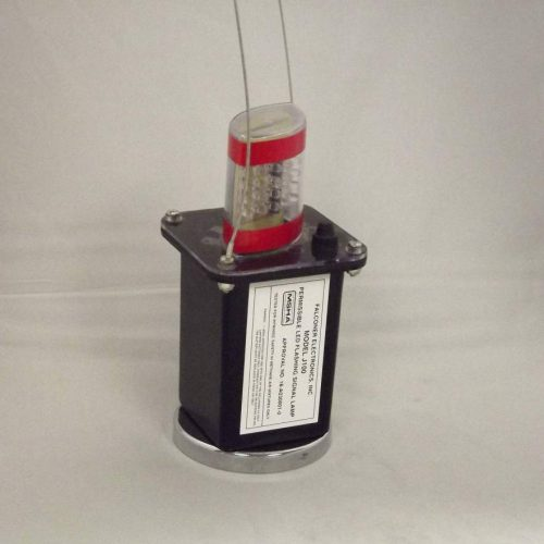 J100-02M Magnetic Red LED Mining Light w/Clear Lens