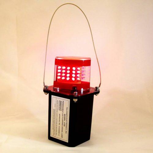 J100-02 Red LED Mining Light w/Clear Lens