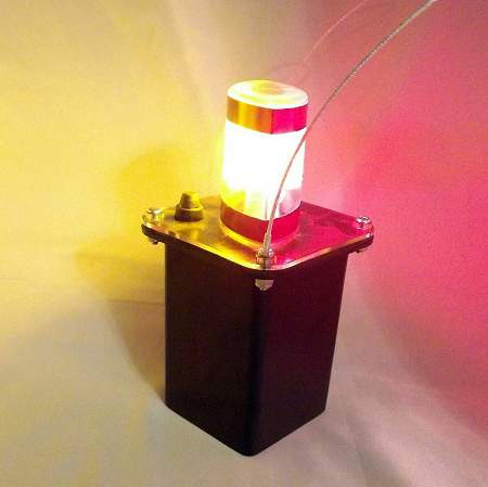 J100-05 Amber-Red LED Mining Light w/Clear Lens