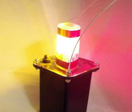 J100-05M Magnetic Amber-Red LED Mining Light w/Clear Lens