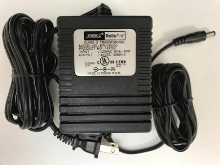 Jameco EFU120200F2000 AC to DC Power Supply 12 Volt 2 Amp