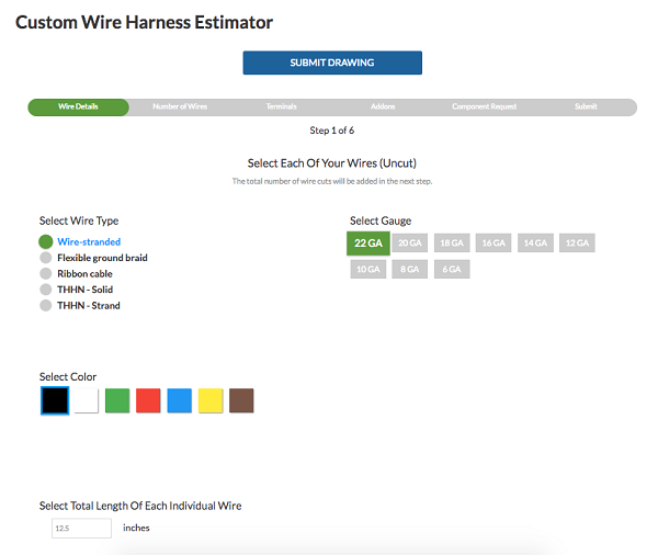 FEI Wire Harness Estimator