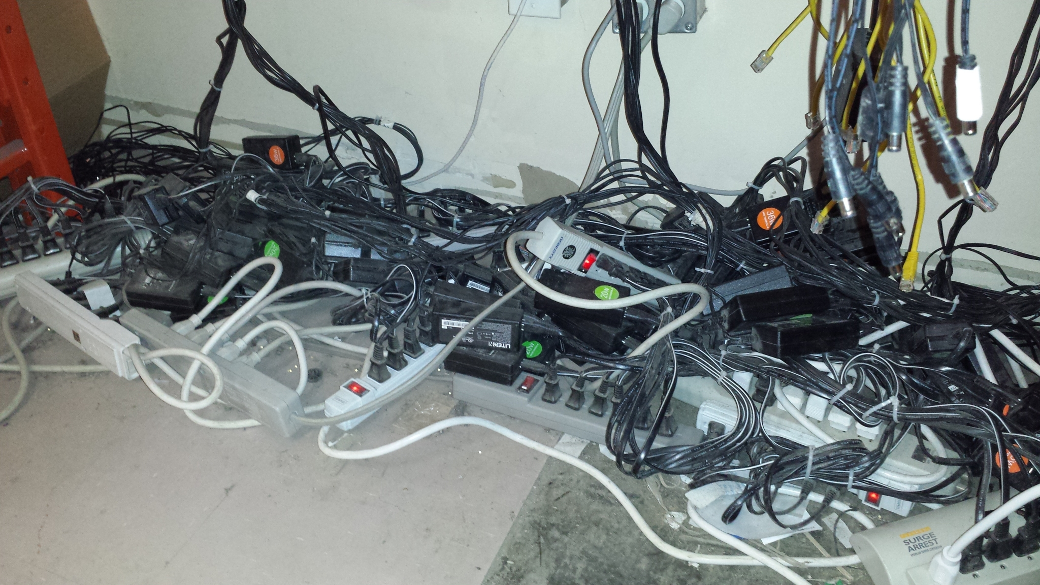 overloaded power strips