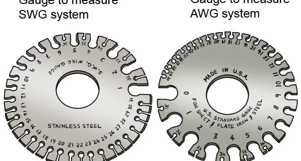 AWG, AWG Wire Gauge Standard Vs. SWG Wire Gauge Standard