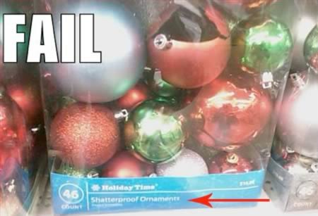 """Shatterproof"" Holiday Ornaments- Holiday Display"