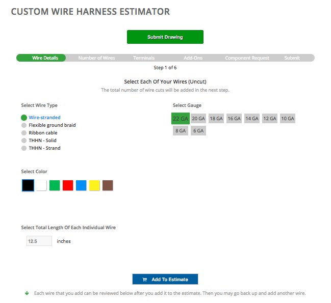Wire Harness Estimate - Fast and Easy at Falconer Electronics on