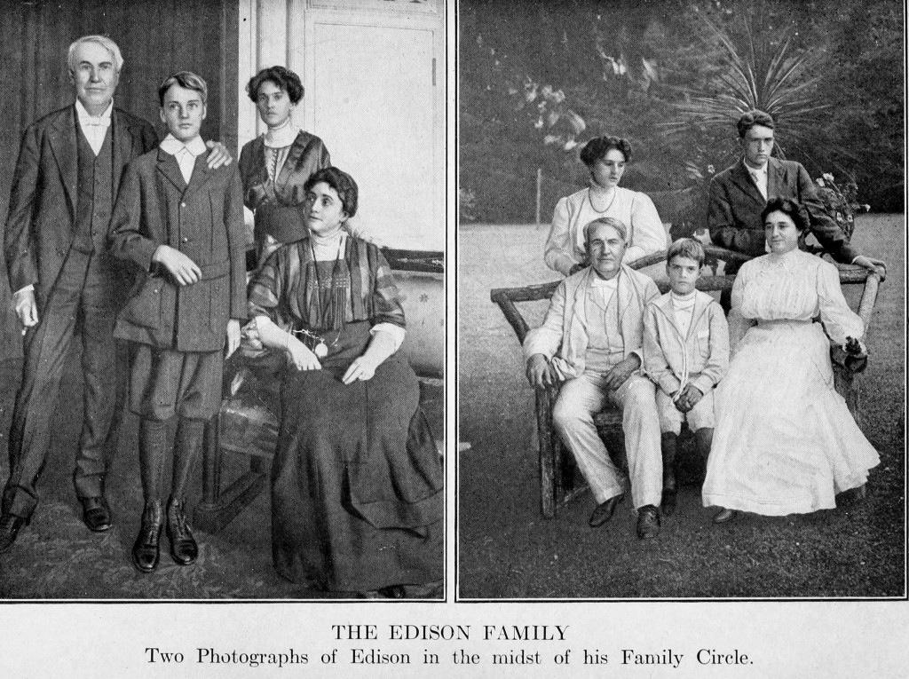 Thomas Edison and his family