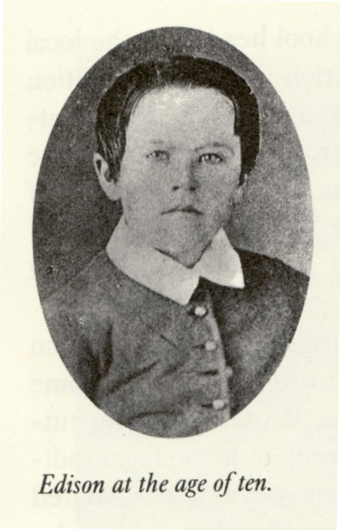 Thomas Edison at 10 years old