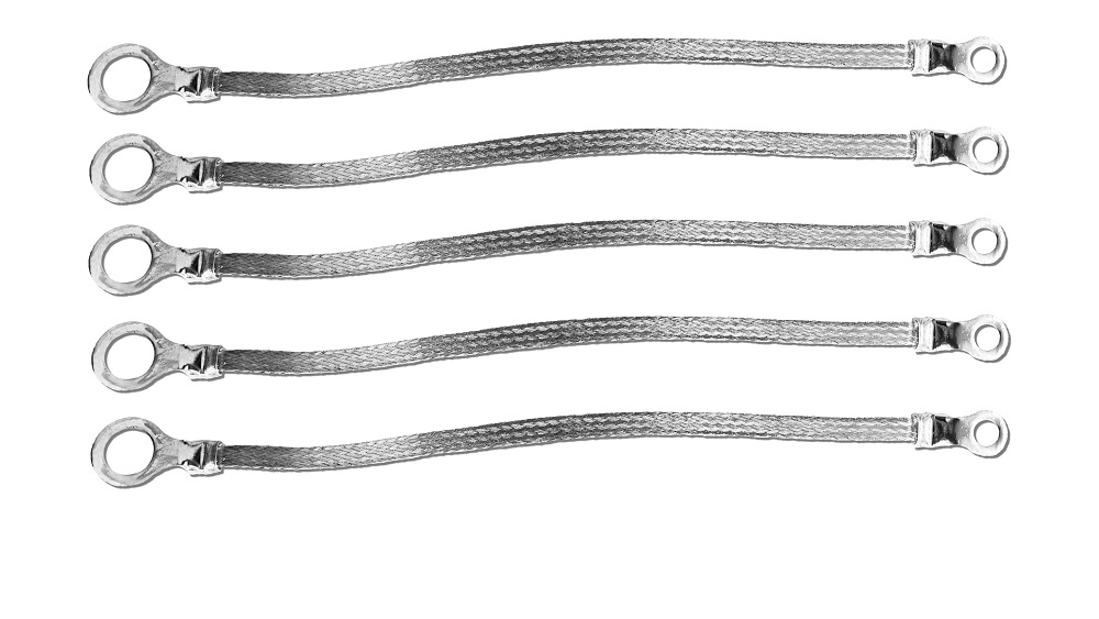 1//2 Ring to 1//4 Ring 8 x 1//2 Braided Ground Straps -5pcs