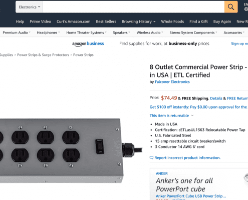 Power Strips on Amazon
