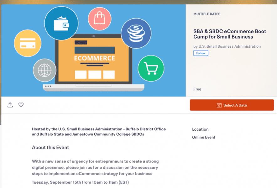 Buffalo SBA, Buffalo SBA eCommerce Webinar Featuring Falconer Electronics