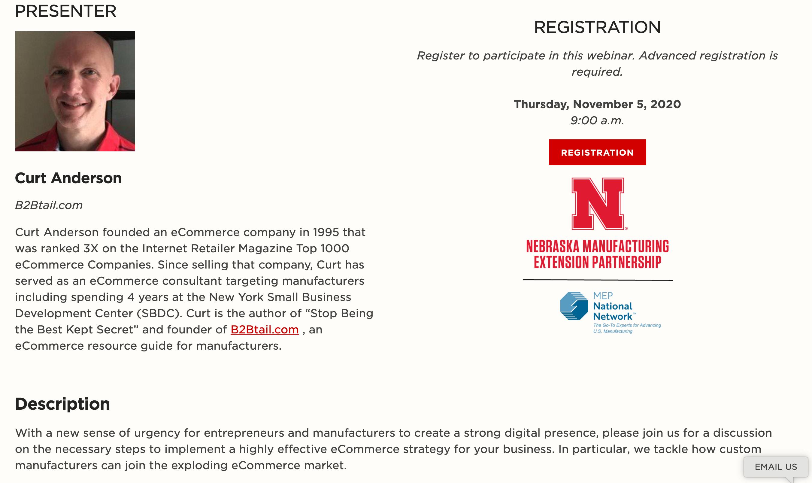 Nebraska MEP, Univ. of Nebraska MEP eCommerce Workshop Featuring Falconer Electronics