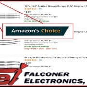 Ground Straps on Amazon, Falconer Electronics Lands #1 for Braided Ground Straps on Amazon