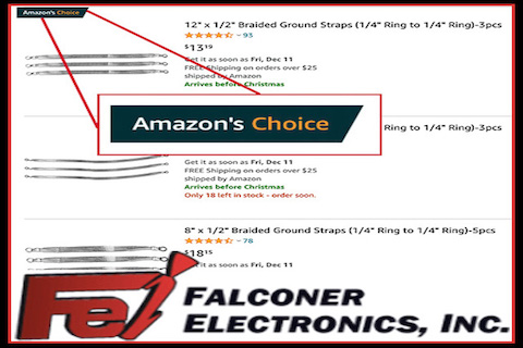 Amazon's Choice, Amazon's Choice: Five Star Ground Straps Manufactured in the U.S. at Falconer Electronics