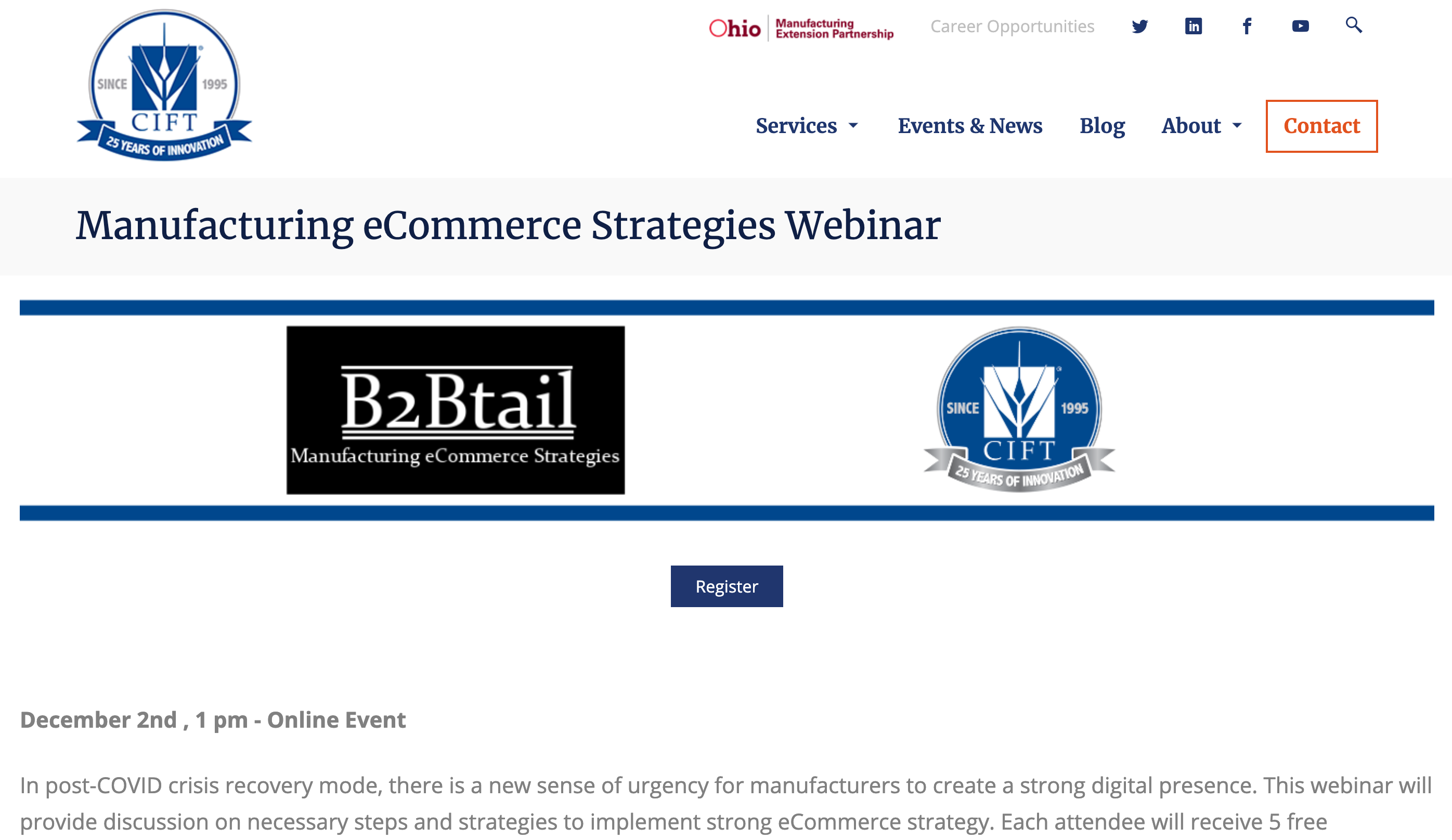 CIFT, OHIO MEP (CIFT) eCommerce Workshop Featuring Falconer Electronics