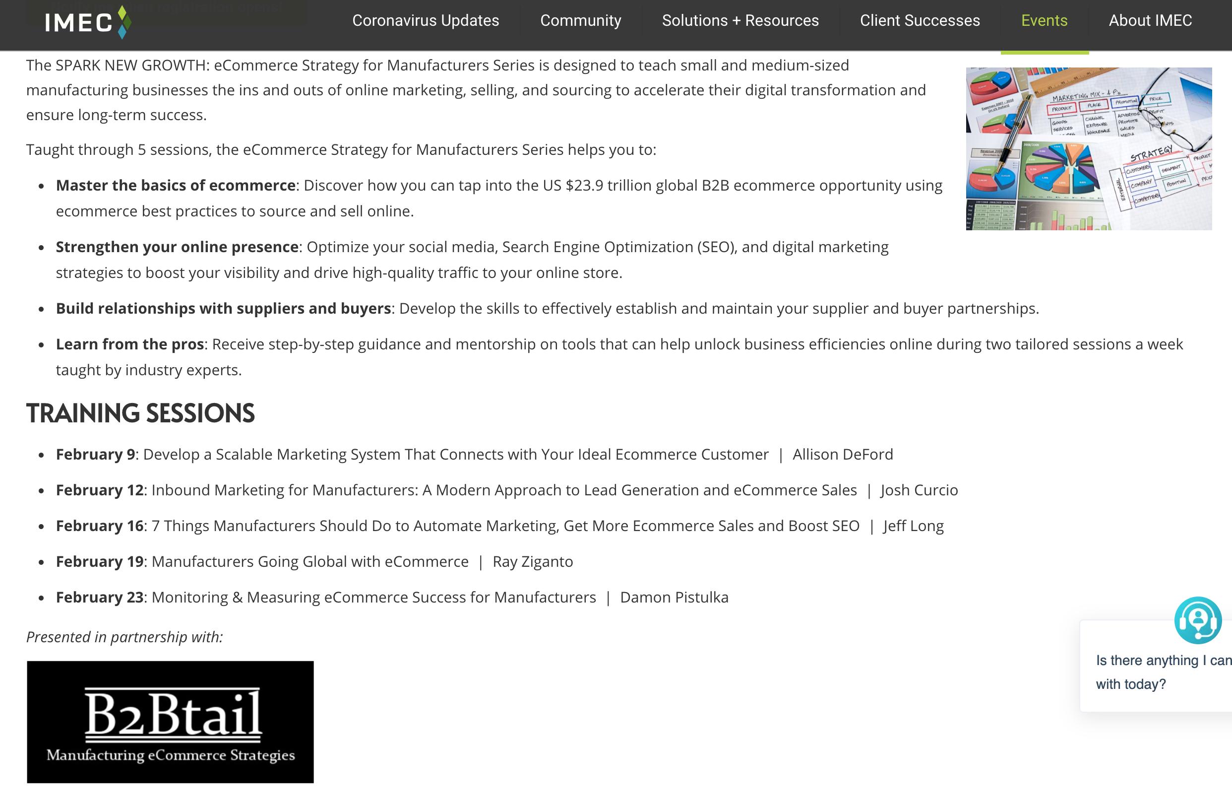 IMEC, IMEC Offers eCommerce Workshop Featuring Falconer Electronics