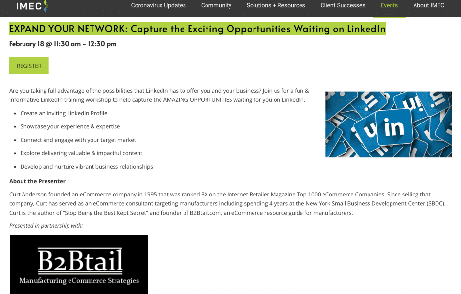 Illinois MEP, Falconer Electronics Featured in Illinois MEP LinkedIn Workshop