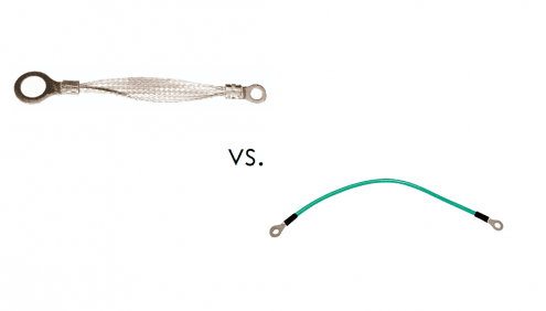 Braided ground strap vs. ground wires